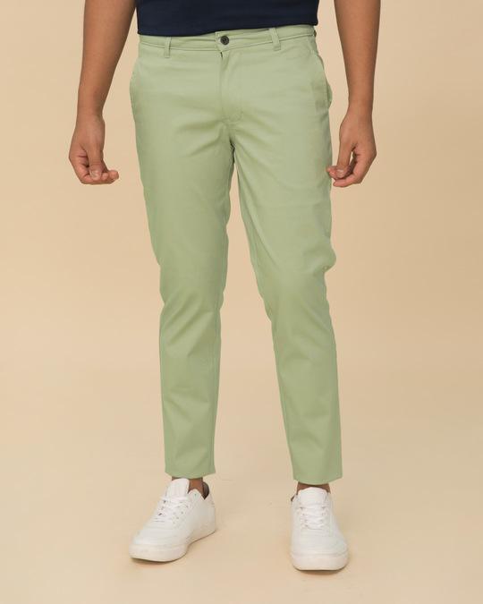e903a76c19 Buy Arca Green Plain Pants For Men Online India @ Bewakoof.com