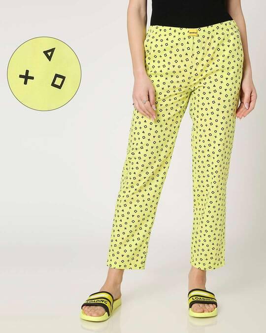Shop Arcade Green AOP Pyjama-Front