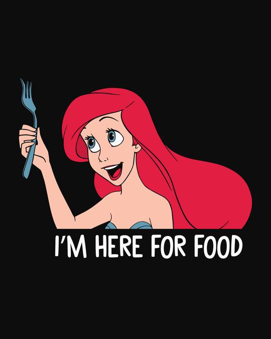 Shop Ariel Food Round Neck 3/4th Sleeve T-Shirt (DL)-Full