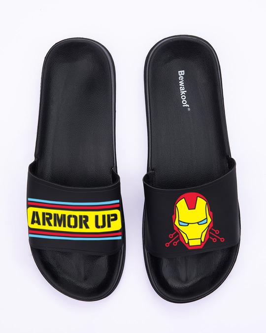 Shop Armor Printed Lightweight Men's Sliders-Back