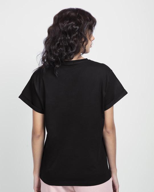 Shop Army Forever Boyfriend T-Shirt Black-Back