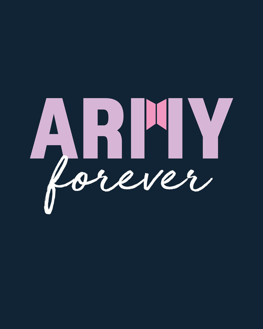 Shop Army Forever Round Neck 3/4th Sleeve T-Shirt Navy Blue-Full