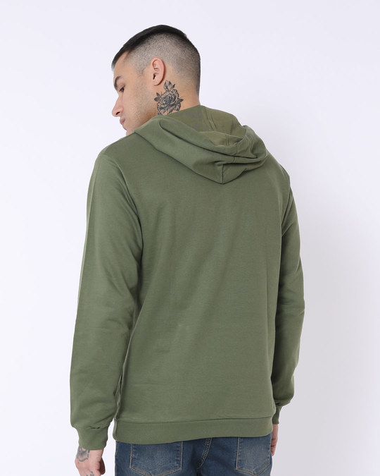 Shop Army Green Fleece Hoodies-Design