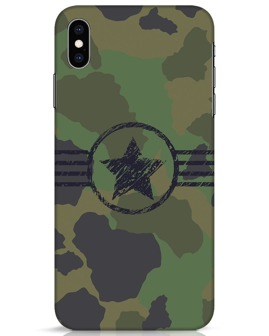 Shop Army iPhone XS Max Mobile Cover-Front