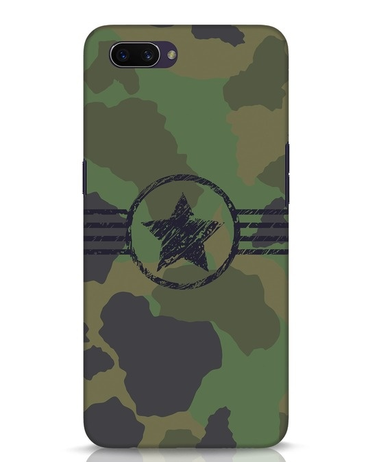 Shop Army Oppo A3S Mobile Cover-Front