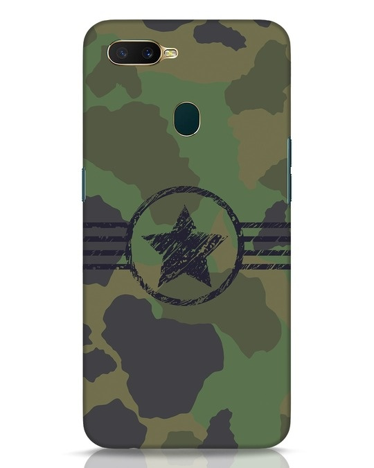 Shop Army Oppo A7 Mobile Cover-Front