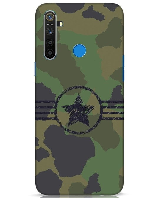 Shop Army Realme 5 Mobile Cover-Front