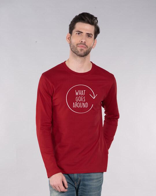 Shop Around Full Sleeve T-Shirt-Back