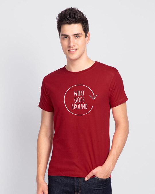 Shop Around Half Sleeve T-Shirt-Back
