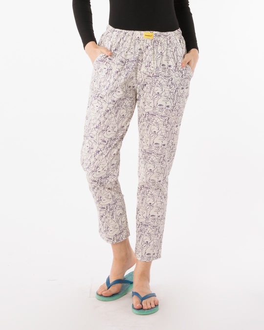 Shop Art All Over Printed Pyjama-Front