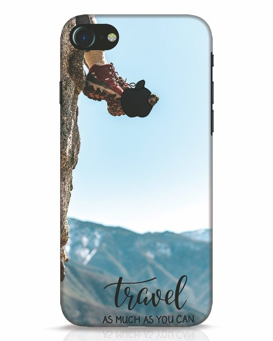 Shop As Much As You Can iPhone 7 Logo Cut Mobile Cover-Front