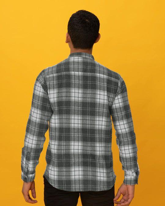 Shop Ash Grey Checked Shirt-Design