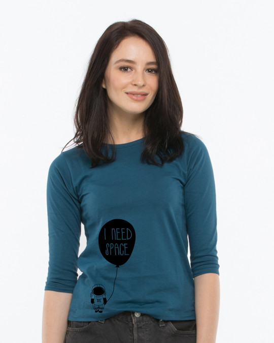 Shop Astro Space Round Neck 3/4th Sleeve T-Shirt-Front