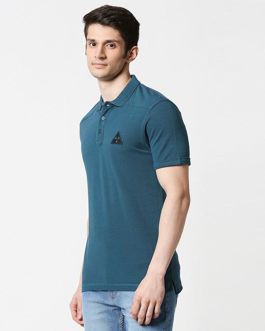 Shop Atlantic Deep Half Sleeve Shoulder Yoke Polo-Design
