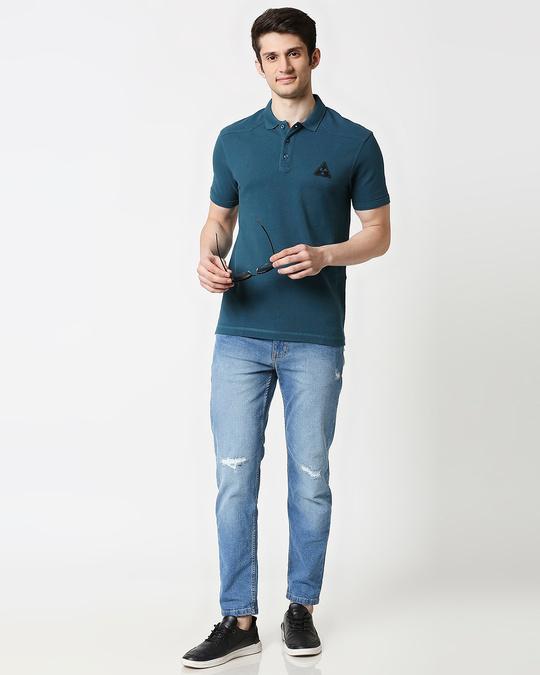 Shop Atlantic Deep Half Sleeve Shoulder Yoke Polo