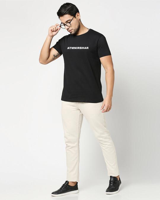 Shop Atma Nirbhar Men's Printed T-shirt-Full