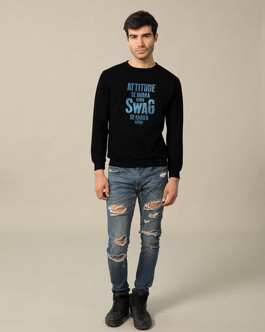 Shop Attitude Aur Swag Fleece Light Sweatshirt-Design