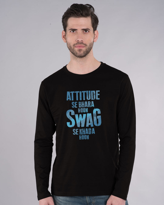 Shop Attitude Aur Swag Full Sleeve T-Shirt-Front