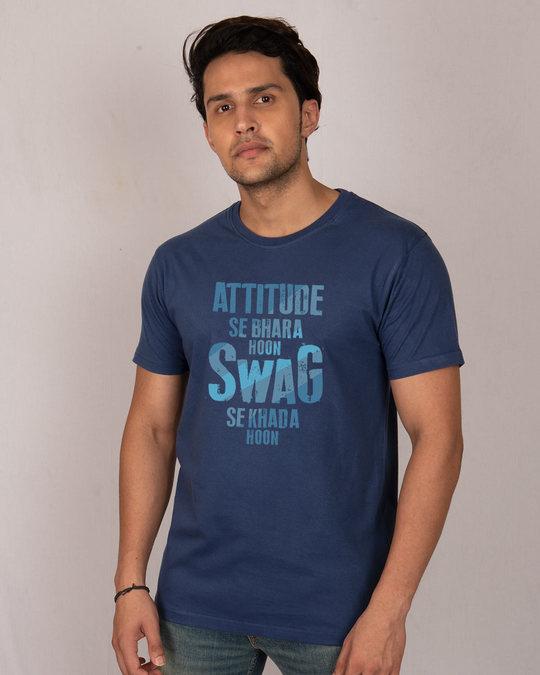 Shop Attitude Aur Swag Half Sleeve T-Shirt-Front