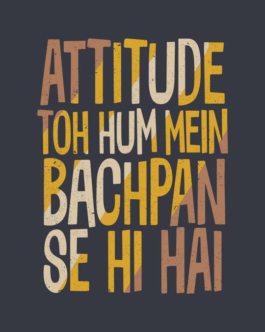 Shop Attitude Bachpan Se Hai Boyfriend T-Shirt
