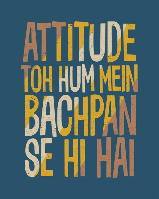 Shop Attitude Bachpan Se Hai Full Sleeve T-Shirt