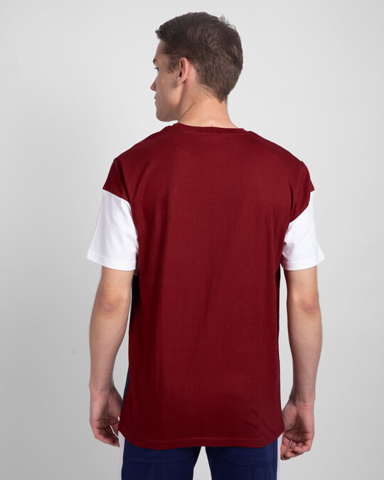 Shop Attitude Block Color Block T-Shirt-Back