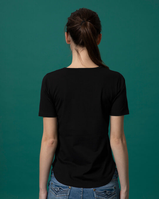 Shop Attitude Dekh Basic Round Hem T-Shirt-Full