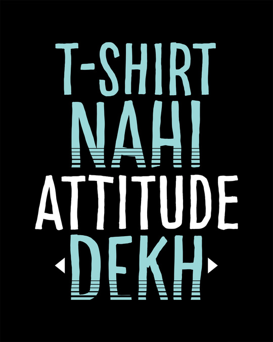 Shop Attitude Dekh Round Neck 3/4th Sleeve T-Shirt