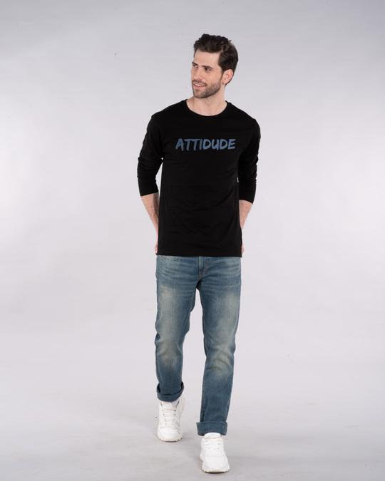 Shop Attitude Dude Full Sleeve T-Shirt-Full