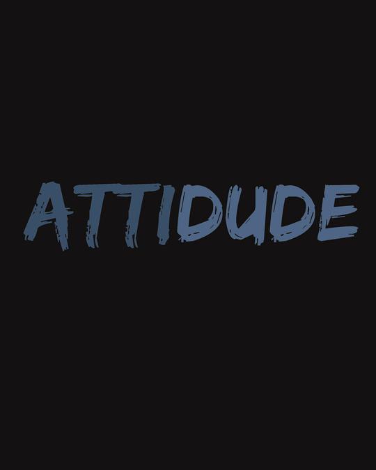Shop Attitude Dude Half Sleeve T-Shirt-Full