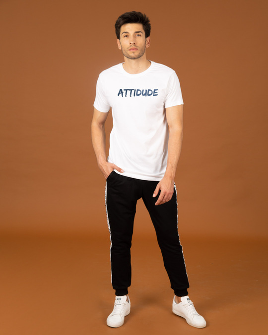 Shop Attitude Dude Half Sleeve T-Shirt-Design