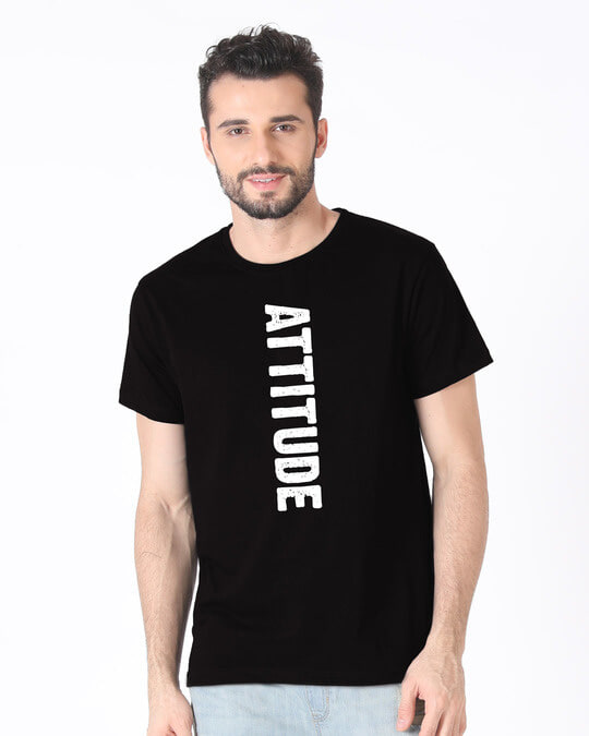 Shop Attitude Half Sleeve T-Shirt-Back