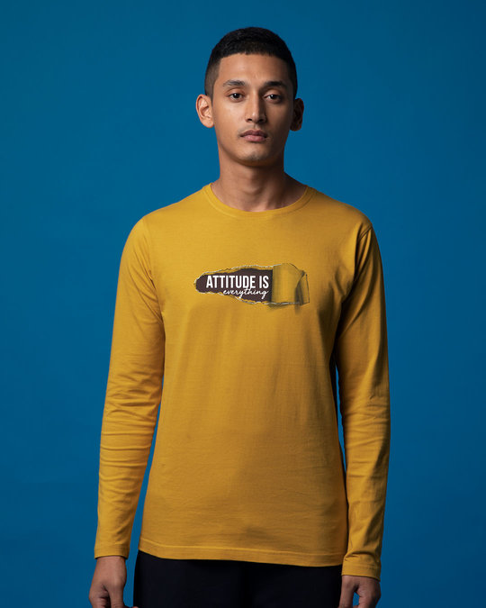 Shop Attitude Is Everything Full Sleeve T-Shirt-Front