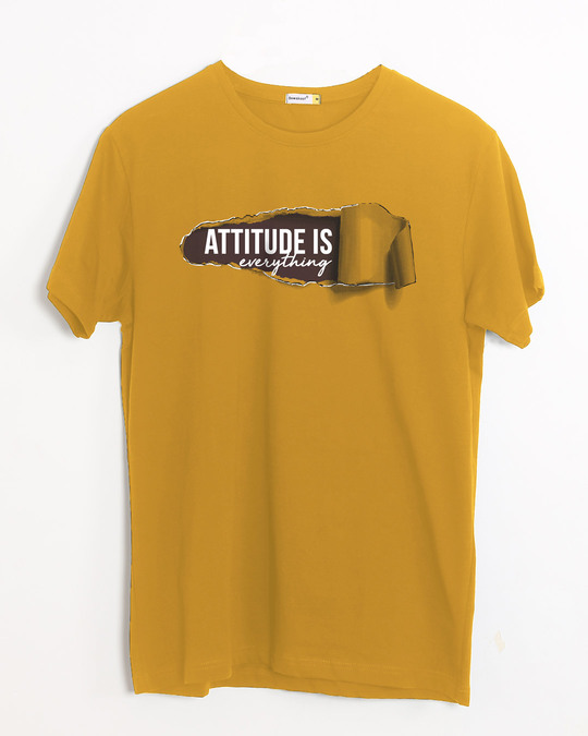 Shop Attitude Is Everything Half Sleeve T-Shirt-Front