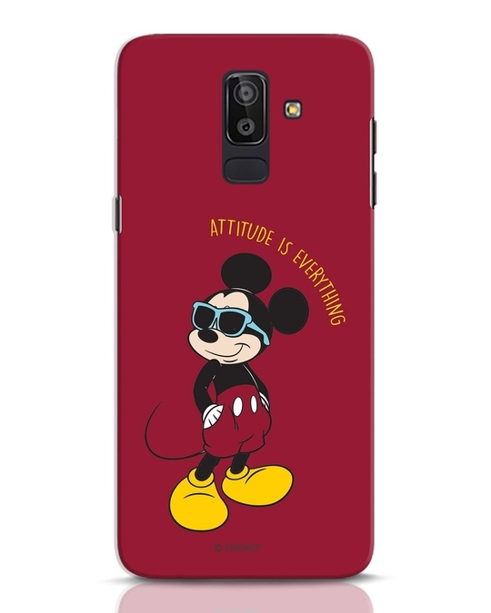 Shop Attitude Is Evrything Samsung Galaxy J8 Mobile Cover (DL)-Front