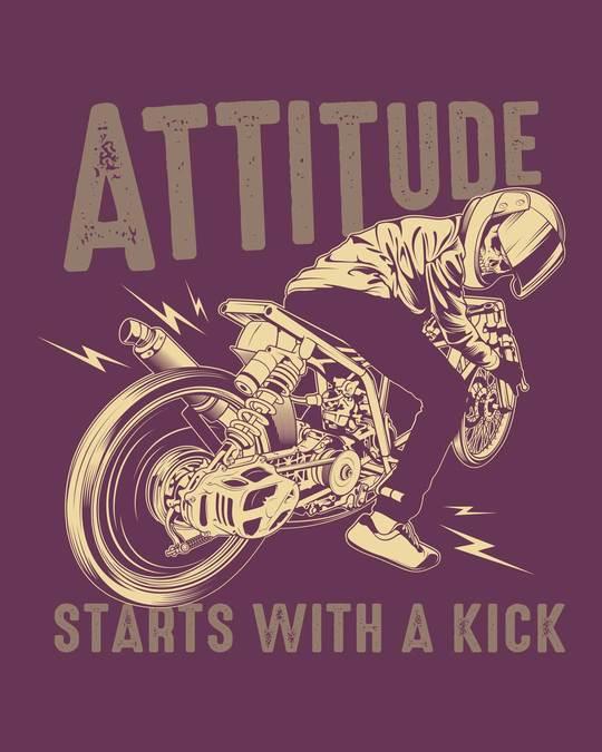 Shop Attitude Starts Half Sleeve T-Shirt-Full