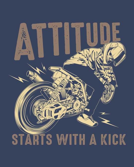 Shop Attitude Starts Half Sleeve T-Shirt