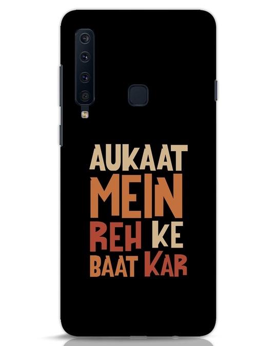 Shop Aukaat Mein Reh Kar Baat Kar Samsung Galaxy A9 2018 Mobile Cover-Front
