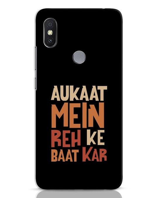 Shop Aukaat Mein Reh Kar Baat Kar Xiaomi Redmi Y2 Mobile Cover-Front