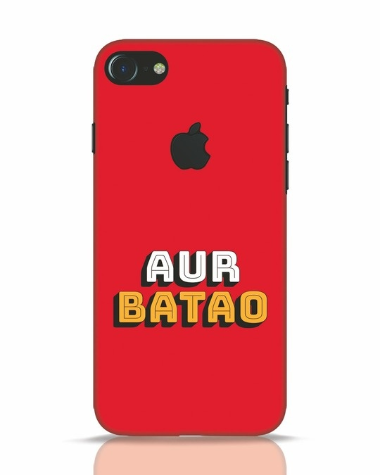 Shop Aur Batao iPhone 7 Logo Cut Mobile Cover-Front