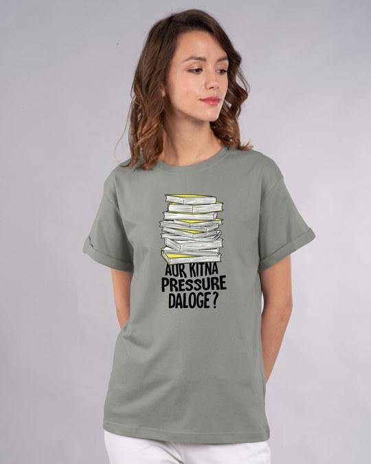Shop Aur Kitna Pressure Boyfriend T-Shirt-Front