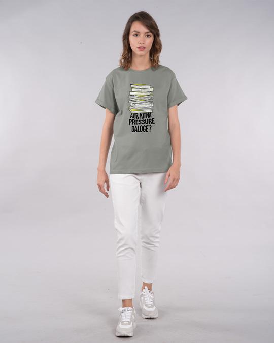 Shop Aur Kitna Pressure Boyfriend T-Shirt-Full