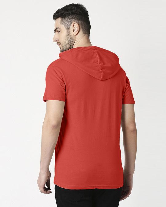 Shop Auro Red Half Sleeve Hoodie T-Shirt-Design