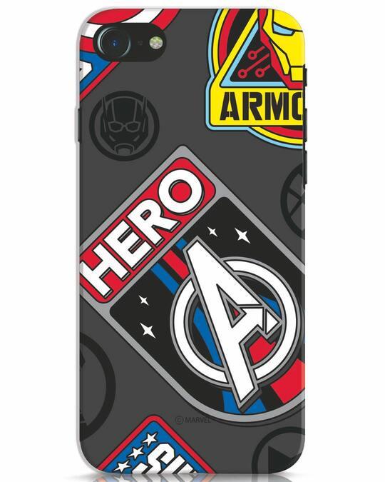 Shop Avenger Badge iPhone 7 Mobile Cover (AVL)-Front