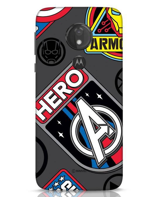 Shop Avenger Badge Moto G7 Power Mobile Cover (AVL)-Front