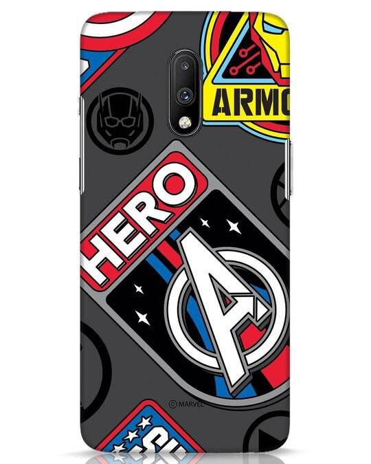Shop Avenger Badge OnePlus 7 Mobile Cover (AVL)-Front