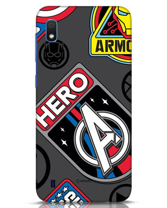 Shop Avenger Badge Samsung Galaxy A10 Mobile Cover (AVL)-Front