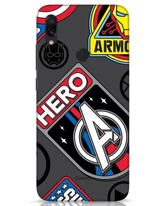 Shop Avenger Badge Xiaomi Redmi Note 7s Mobile Cover (AVL)-Front