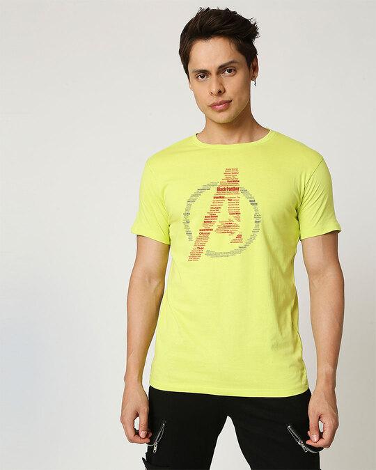 Shop Avengers All Stars Half Sleeve T-Shirt Neo Mint (AVL)-Back