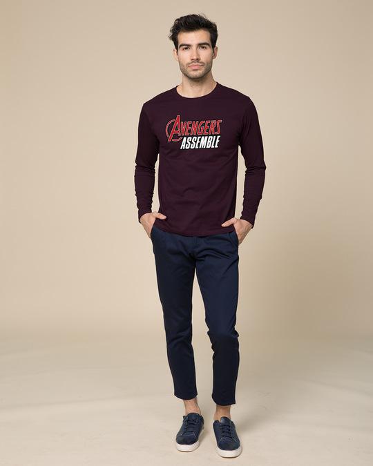 Shop Avengers Are Assembled Full Sleeve T-Shirt (AVEGL)-Full